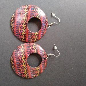 Dangle hoop hook earrings